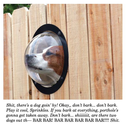 dog porthole