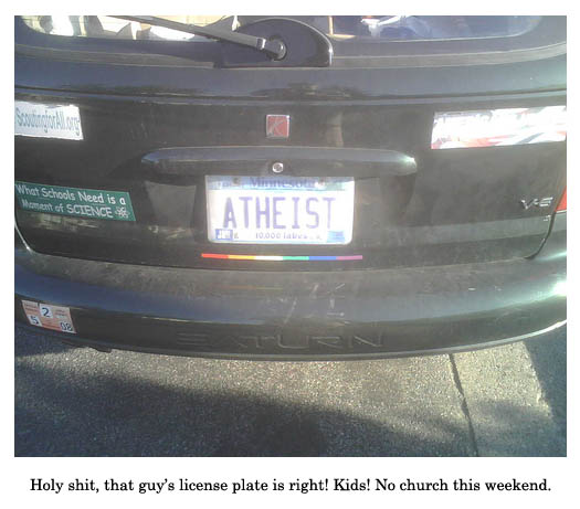 atheist license plate