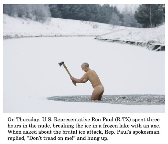 ron paul on ice