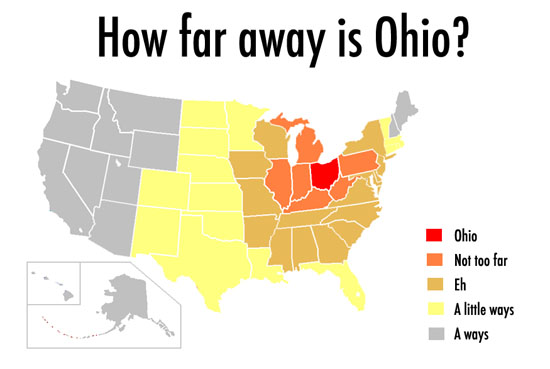how far away is ohio