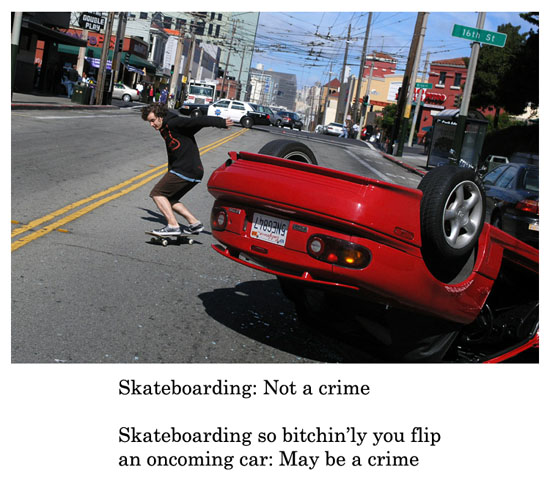 skateboarding bitchinly