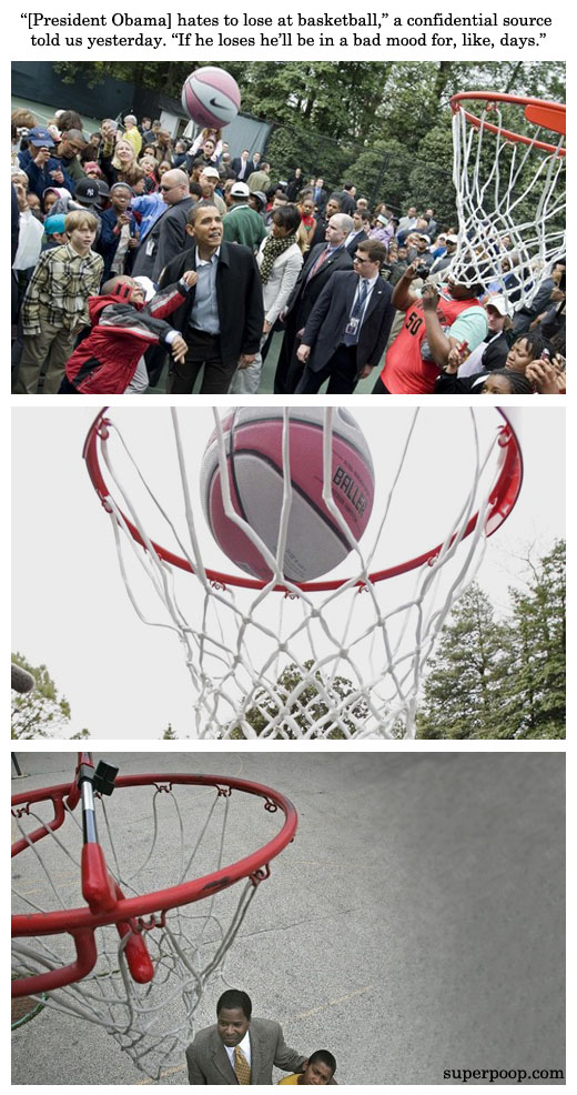 obama hates to lose at basketball