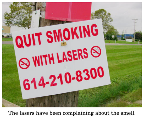 quit smoking with lasers