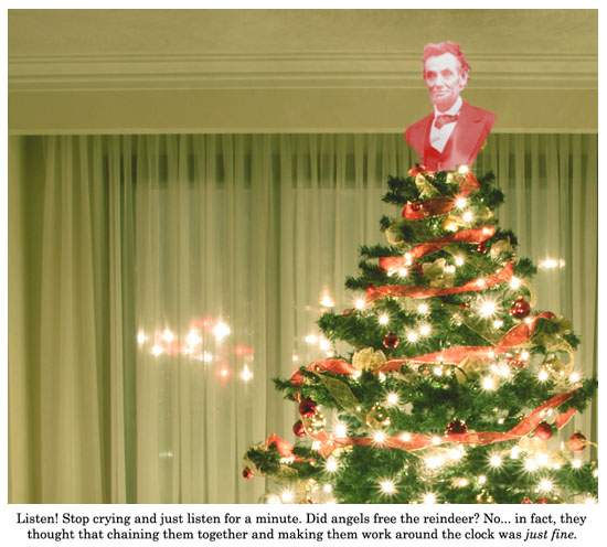 its an abraham lincoln christmas